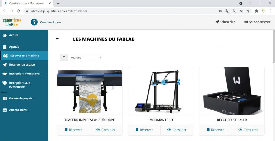 Plateforme Fabmanager